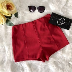 Forever 21 high waisted red shorts